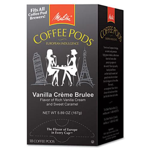 Melitta Coffee Pods  Vanilla Creme Brulee  18 Pods Box (MLA75416)
