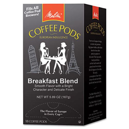 Melitta One:One Coffee Pods, Breakfast Blend, 18 Pods/Box (MLA75421)