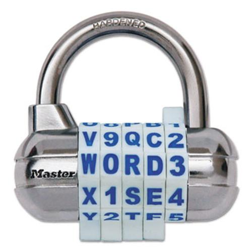 Master Lock Password Plus Combination Lock  Hardened Steel Shackle  2 1 2  Wide  Silver (MLK1534D)