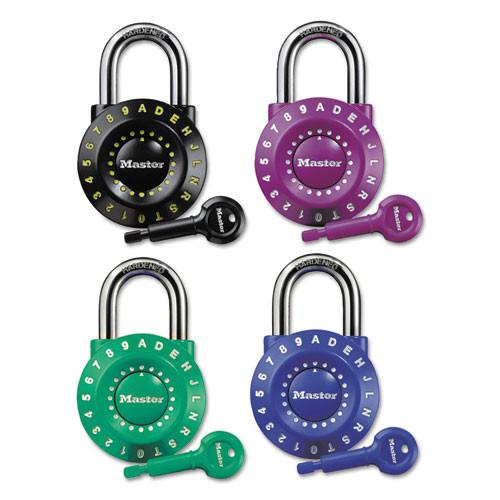Master Lock Set-Your-Own Combination Lock  Steel  1 7 8  Wide  Assorted (MLK1590D)