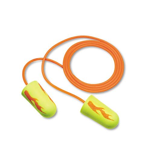 3M EA  AA  Rsoft Blasts Earplugs  Corded  Foam  Yellow Neon  200 Pairs (MMM3111252)