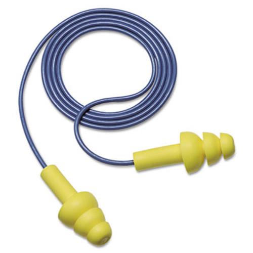 3M EA  AA  R UltraFit Earplugs  Corded  Premolded  Yellow  100 Pairs (MMM3404004)