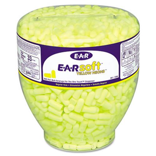 3M EA  AA  Rsoft Neon Tapered Earplug Refill  Cordless  Yellow  500 Box (MMM3911004)