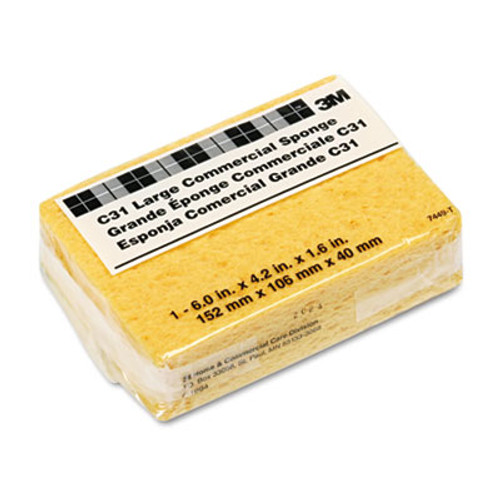 """3Mâ""""¢ Commercial Cellulose Sponge, Yellow, 4 1/4 x 6 (MMMC31)"""
