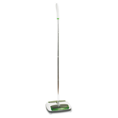Scotch-Brite Quick Floor Sweeper  Rubber Bristles  42  Aluminum Handle  White (MMMM007CCW)