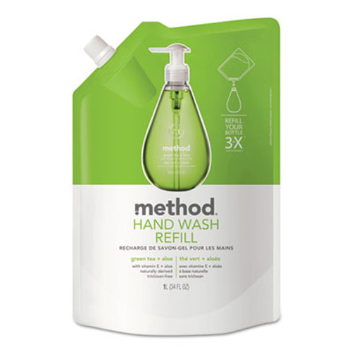Method Gel Hand Wash Refill, Green Tea & Aloe, 34 oz Pouch (MTH00651)