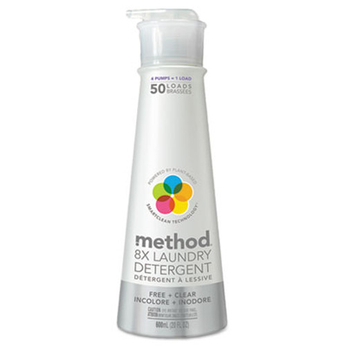 Method 8X Laundry Detergent  Free   Clear  20 oz Bottle (MTH01126)
