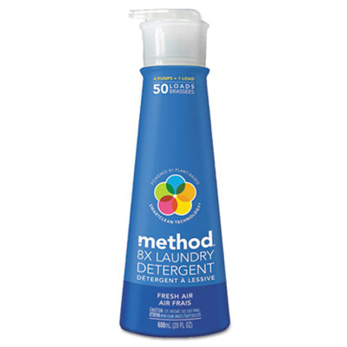 Method 8X Laundry Detergent, Fresh Air, 20 oz Bottle (MTH01127)