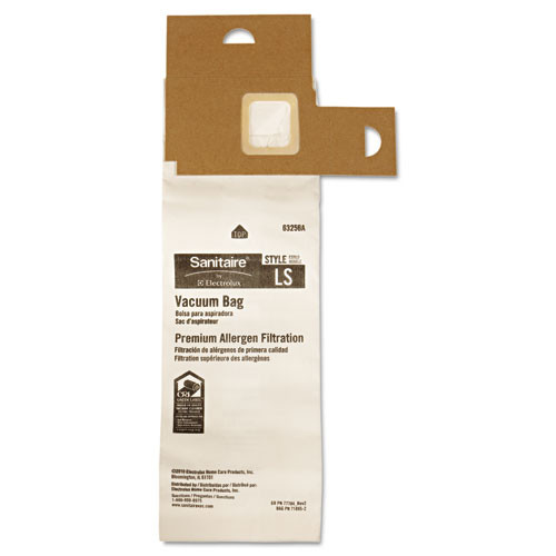 Sanitaire Commercial Upright Vacuum Cleaner Replacement Bags  Style LS  5 Pack (EUR63256A10)