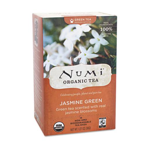 Numi Organic Teas and Teasans  1 27 oz  Jasmine Green  18 Box (NUM10108)