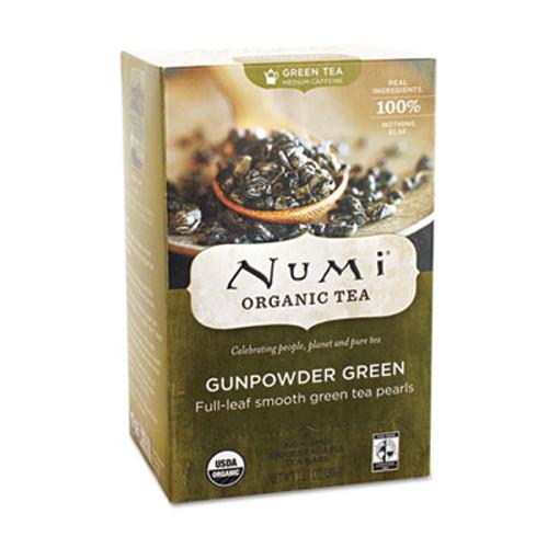 Numi Organic Teas and Teasans  1 27 oz  Gunpowder Green  18 Box (NUM10109)