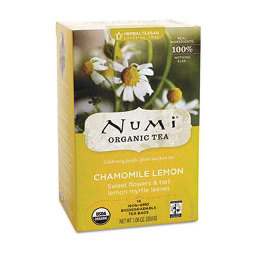 Numi Organic Teas and Teasans  1 8 oz  Chamomile Lemon  18 Box (NUM10150)