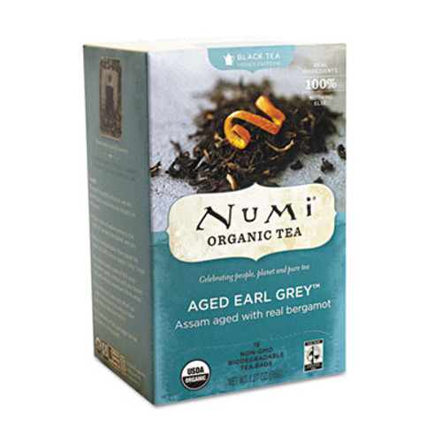 Numi Organic Teas and Teasans  1 27 oz  Aged Earl Grey  18 Box (NUM10170)
