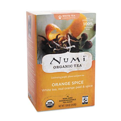 Numi Organic Teas and Teasans  1 58 oz  White Orange Spice  16 Box (NUM10240)