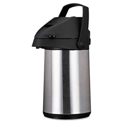 Coffee Pro Direct Brew Serve Insulated Airpot with Carry Handle  2200mL  Stainless Steel (OGFCPAP22)