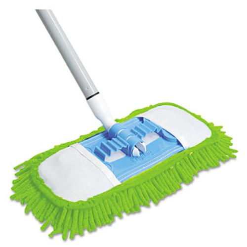 """Quickie Microfiber Dust Mop, 48"""" Steel Handle, Blue (QCK060)"""