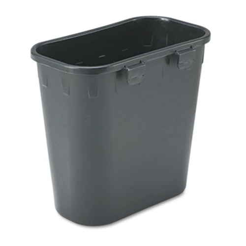 Safco Paper Pitch Recycling Bin, Rectangular, Polyethylene, 1.75gal, Black (SAF2944BL)