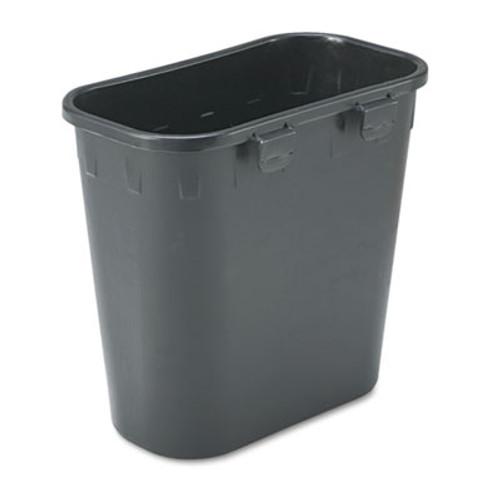 Safco Paper Pitch Recycling Bin  Rectangular  Polyethylene  1 75 gal  Black (SAF2944BL)