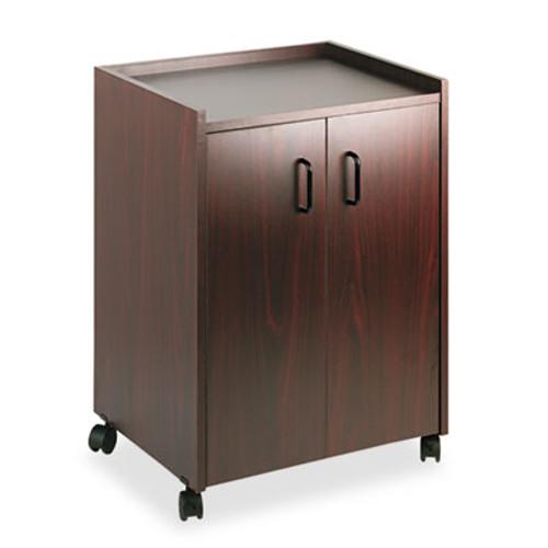 Safco Mobile Refreshment Center  One-Shelf  23w x 18d x 31h  Mahogany (SAF8953MH)