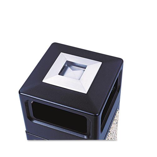 Safco Canmeleon Ash Trash Receptacle  Square  Aggregate Polyethylene  15 gal  Black (SAF9470NC)