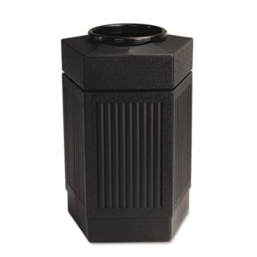 Safco Canmeleon Indoor Outdoor Receptacle  Pentagon  Polyethylene  30 gal  Black (SAF9485BL)