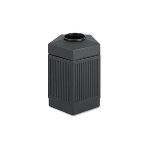 Safco Canmeleon Indoor Outdoor Receptacle  Pentagon  Polyethylene  45 gal  Black (SAF9486BL)