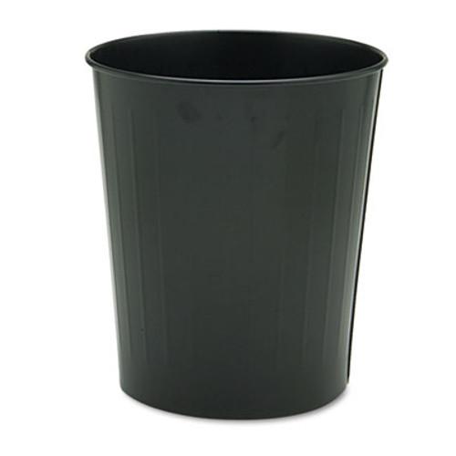 Safco Round Wastebasket  Steel  23 5 qt  Black (SAF9604BL)