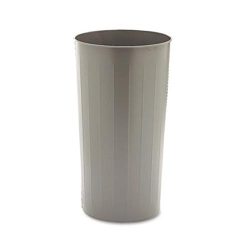 Safco Round Wastebasket, Steel, 20gal, Charcoal (SAF9610CH)