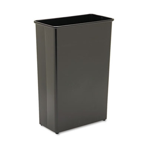 Safco Rectangular Wastebasket, Steel, 22gal, Black (SAF9618BL)