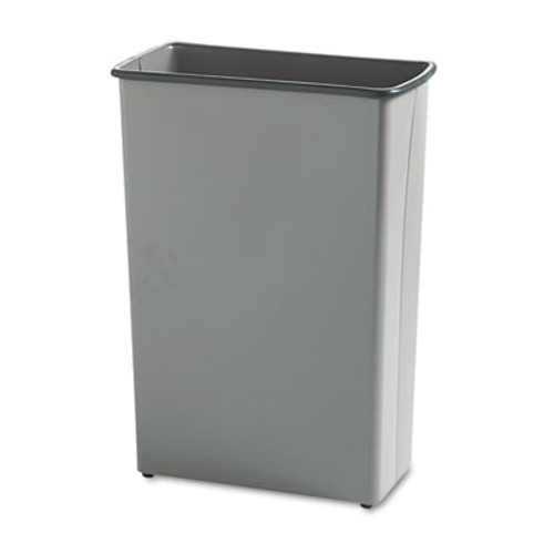 Safco Rectangular Wastebasket  Steel  22 gal  Charcoal (SAF9618CH)