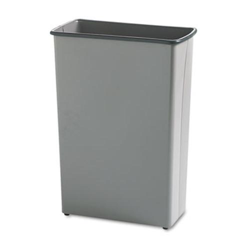 Safco Rectangular Wastebasket  Steel  22 gal  Charcoal (SAF9618CH)
