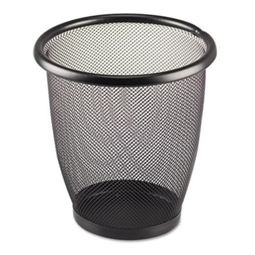 Safco Onyx Round Mesh Wastebasket, Steel Mesh, 3qt, Black (SAF9716BL)