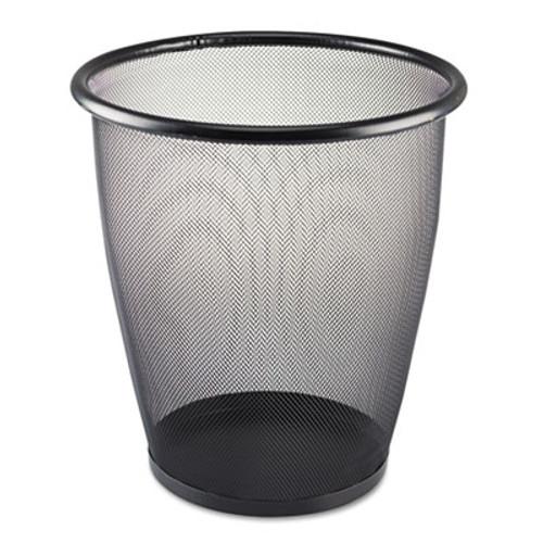 Safco Onyx Round Mesh Wastebasket  Steel Mesh  5 gal  Black (SAF9717BL)