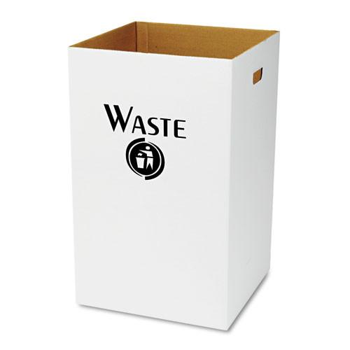 Safco Corrugated Waste Receptacle  Square  40 gal  White  12 Carton (SAF9745)