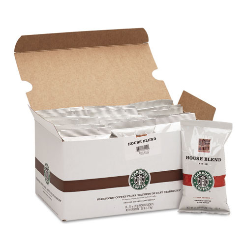 Starbucks Coffee  Regular House Blend  2 5oz Packet  18 Box (SBK11018190)