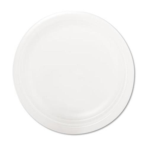 Dart Quiet Classic Laminated Foam Dinnerware Plate  9  dia  White  125 Pack (DCC9PWQRPK)
