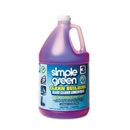 Simple Green Clean Building Glass Cleaner Concentrate  Unscented  1gal Bottle (SMP11301)