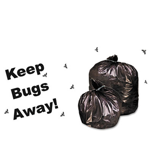 Stout by Envision Insect-Repellent Trash Bags  55 gal  2 mil  37  x 52   Black  65 Box (STOP3752K20)