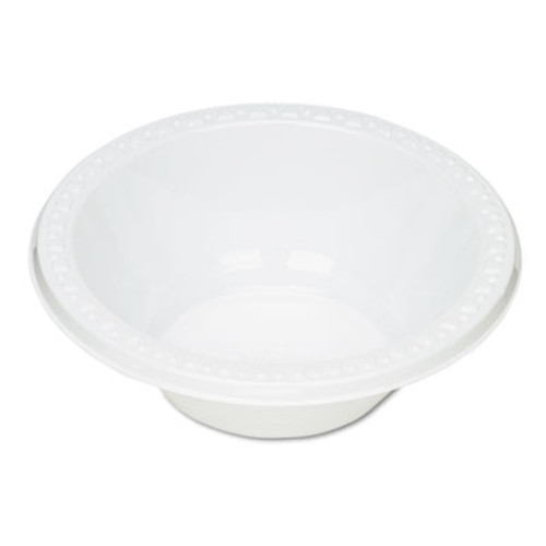 Tablemate Plastic Dinnerware  Bowls  12oz  White  125 Pack (TBL12244WH)
