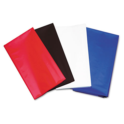 Tablemate Table Set Rectangular Table Cover  Heavyweight Plastic  54 x 108  Red  6 Pack (TBL549RD)