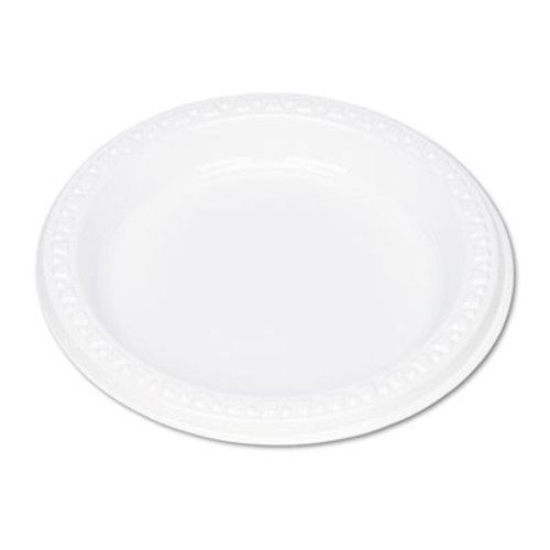 Tablemate Plastic Dinnerware  Plates  6  dia  White  125 Pack (TBL6644WH)