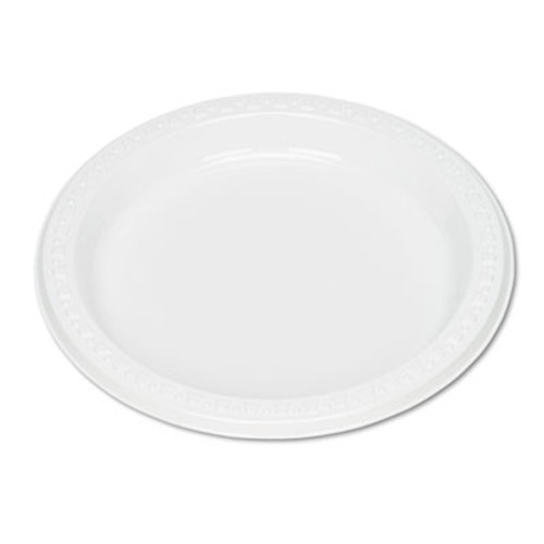 Tablemate Plastic Dinnerware  Plates  7  dia  White  125 Pack (TBL7644WH)
