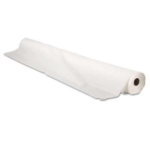 "Tablemate Bio-Degradable Plastic Table Cover, 40"" x 300ft, White (TBLBIO1403WH)"