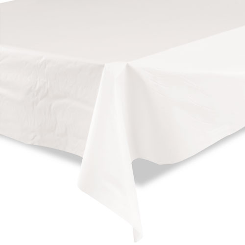 Tablemate Bio-Degradable Plastic Table Cover  40  x 300ft  White (TBLBIO1403WH)
