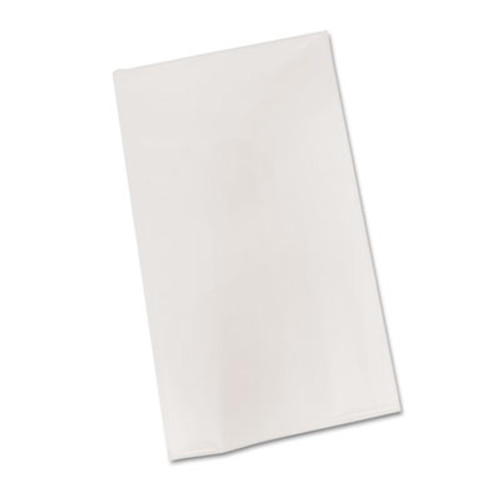 "Tablemate Bio-Degradable Plastic Table Cover, 54"" x 108"", White, 6/Pack (TBLBIO549WH)"