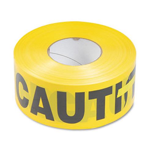 Tatco Caution Barricade Safety Tape  Yellow  3w x 1000ft Roll (TCO10700)