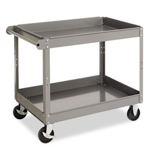 Tennsco Two-Shelf Metal Cart  24w x 36d x 32h  Gray (TNNSC2436)