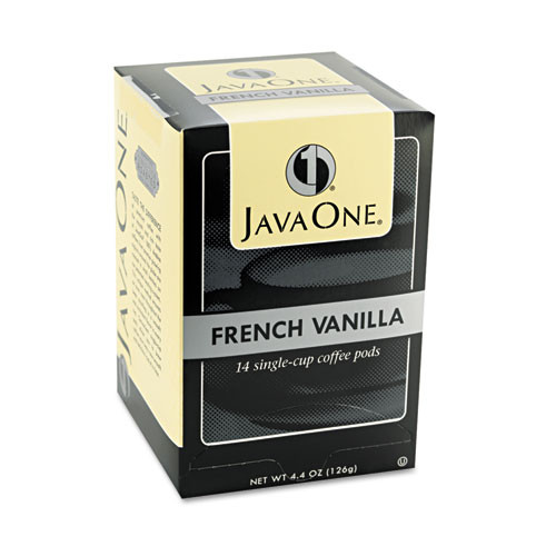 Java One Coffee Pods  French Vanilla  Single Cup  14 Box (JAV70400)