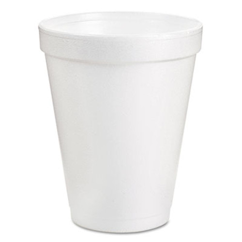 Dart Foam Drink Cups  8oz  White  25 Pack (DCC8J8BG)