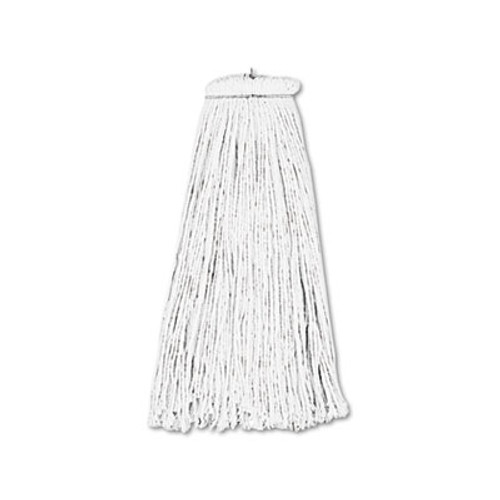 Boardwalk Cut-End Lie-Flat Wet Mop Head  Rayon  16oz  White (BWK716REA)